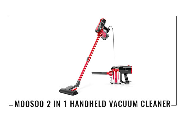 MOOSOO 2 in 1 Handheld Vacuum Cleaner