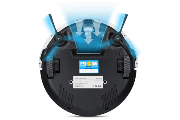 Bottom View of ilife v5s Pro Robot Vacuum